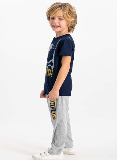 Batman Lacivert Kısa Kollu Erkek Çocuk Pijama Takımı Lacivert